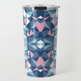 Abstract Collide Blue and Pink Travel Mug