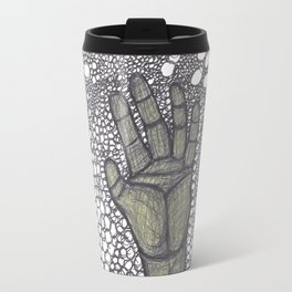 Golden hand drowning in the Astral plane Travel Mug