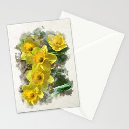 Watercolor Daffodils Stationery Cards