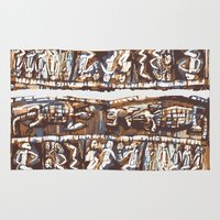 african Area & Throw Rugs featuring african by Silvia Gentilini