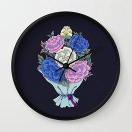 Minhwa: Peony Bouquet K Type Wall Clock