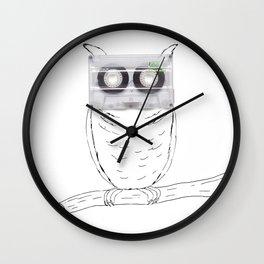 Owl cassette Wall Clock