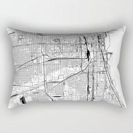 Chicago White Map Rectangular Pillow