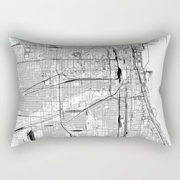 Chicago White Map Rectangular Pillow