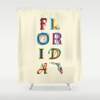 florida Shower Curtains featuring Florida by Fimbis