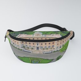 Palace of the Governorate of Vatican and the Vatican Gardens. View from the dome of St. Peter's Basi Fanny Pack