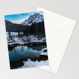 Zelenci springs at dusk Stationery Cards