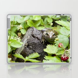 Toad with strawberries Laptop & iPad Skin