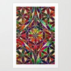 Flower of Life variation Art Print
