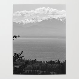 Mountain Views at Deception Pass State Park Poster