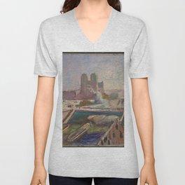 Henri Matisse - Notre-Dame on the River Seine, Paris, France landscape painting Unisex V-Neck