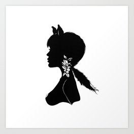 Foxy Silhouette Art Print
