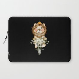 Amazing Cute Lion Watercolor Design Laptop Sleeve