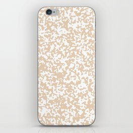Small Spots - White and Pastel Brown iPhone Skin