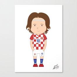 Luka Modrić - Croatia - World Cup 2014 Canvas Print