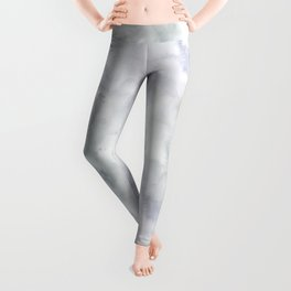 Abstract modern gray lavender watercolor pattern Leggings