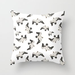 Birds Pattern Photo Collage Throw Pillow