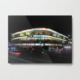 Neon Mall Metal Print