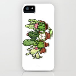 Green - Cactus and Hedgehog iPhone Case