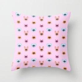 Mouse Cat Rabbit Cute Cartoon Animal Pattern Throw Pillow