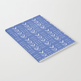 Geometric on dark blue ground Notebook