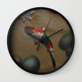 The carp's journey 2 Wall Clock