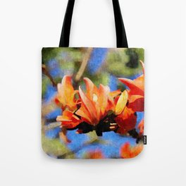 Jungle Flame - Palaash Tote Bag