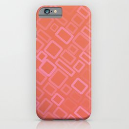 Retro pattern in shades of melon iPhone Case