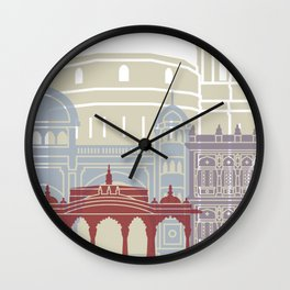 Pune skyline poster Wall Clock