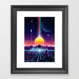 Neon Sunrise Framed Art Print