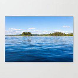Finland lake scape at summer Canvas Print