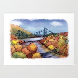 Hudson River, New York Art Print
