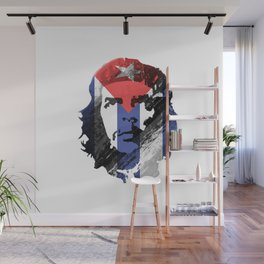 Che Guevara Cuban Revolution Flag Wall Mural