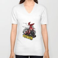 "infamous V-neck T-shirts featuring InFamous Second Son - ""ENJOY YOUR POWER"" by Emme Gray"