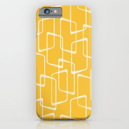 Retro Yellow Geometric Shapes Pattern iPhone Case
