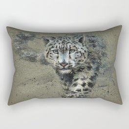 Snow leopard background Rectangular Pillow