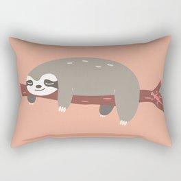 Sloth card - come hang with me Rectangular Pillow