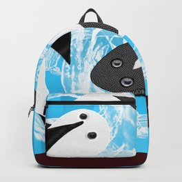 Yin and yang black and white fish Backpack