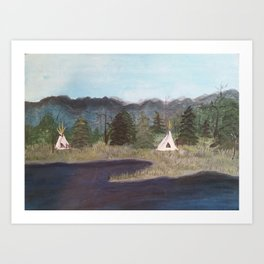 Native Camp Art Print
