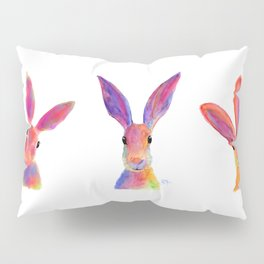 HaRe RaBBiT BuNNY PRiNT ' THe HaPPY HaReS ' BY SHiRLeY MacARTHuR Pillow Sham