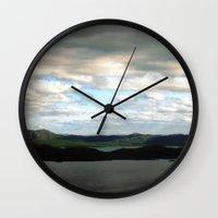 sweden Wall Clocks featuring lake sweden. by zenitt