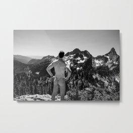 Mountain Backside Metal Print