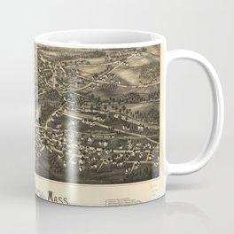 Aerial View of East Pepperell, Massachusetts (1886) Coffee Mug