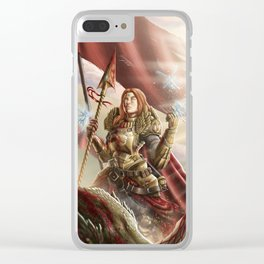 The knight and the dragon Clear iPhone Case
