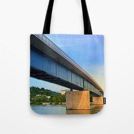 Bridge across the river Danube II | architectural photography Tote Bag