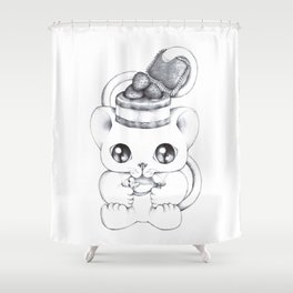 The Purrfect Meal Shower Curtain