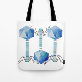 Bacteriophage 2, Science art, science, virus, microbiology, virology, geekery, science illustration Tote Bag