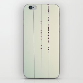 thirty-seven little birds sitting in a row ... iPhone Skin