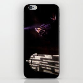 Ebenezer Scrooge meets the Ghost of Christmas Yet to Come. iPhone Skin