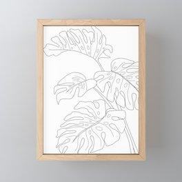 Line Art Monstera Leaves Framed Mini Art Print